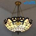 20 дюймов Тиффани-барокко витражный подвесной светильник E27 110-240 В  подвесные светильники для дома  гостиной  столовой