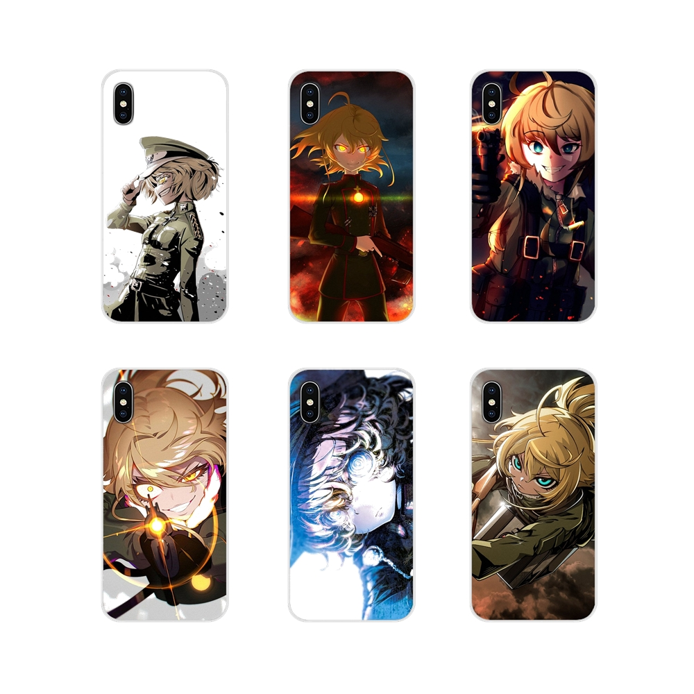 Silicone Cases Covers For Xiaomi Redmi Note 6A MI8 Pro S2 A2 Lite Se MIx 1 Max 2 3 For Oneplus 3 6T Japan Anime <font><b>youjo</b></font> <font><b>senki</b></font> girl image