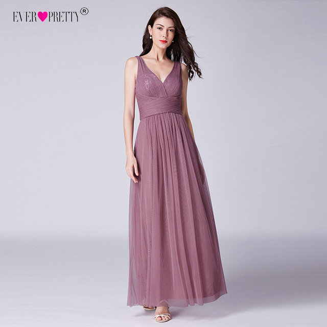 Ever Pretty Long Prom Dresses 2019 Pleated A-Line Floor-Length Vestido De Festa Women Elegant Sleeveless Banquet Party Dress 4