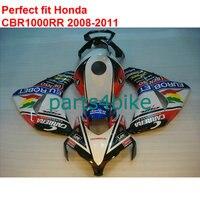 Fit for Honda fairings white black red CBR 1000RR 2008 2009 2010 2011 fairing kit CBR1000RR 08 09 10 11 IT96