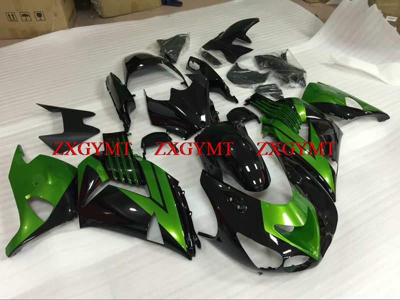 Fairing Kits for Zx14 Zx-14r 2006 - 2011 Fairing Kits Zx14 Zx-14r 2010 Green Black Bodywork ZZR 1400 10 11Fairing Kits for Zx14 Zx-14r 2006 - 2011 Fairing Kits Zx14 Zx-14r 2010 Green Black Bodywork ZZR 1400 10 11