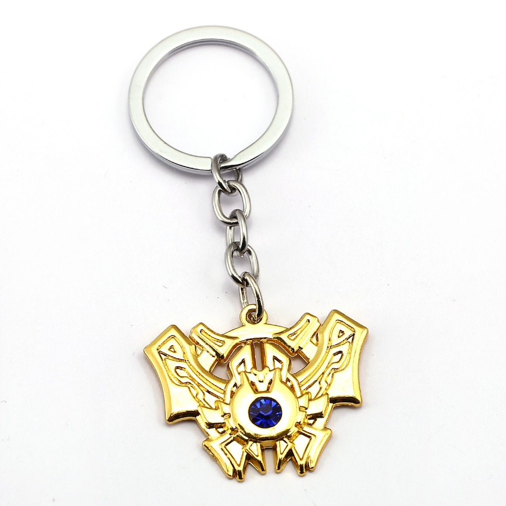 Hot Game LOL Keychain Legends Key Chain League 2017 7 Rank Key Ring Holder Pendant Chaveiro Jewelry Souvenir image