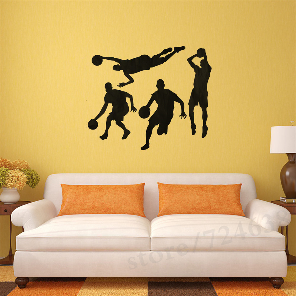 Home Decoration Sports Parlor Bedroom Study Background Basketball ...