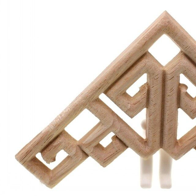 RUNBAZEF Decal Corner Frame Doors Furniture Woodcarving Decorative Wooden Figurines Wood Carved Applique Vintage Home Decor 3