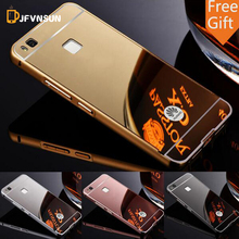 P9 Lite New Luxury Aluminum Metal Frame + Mirror Acrylic Case For Huawei P7 P8 Lite G7 P9 PLUS HOT Armor Back Cover Phone Cases