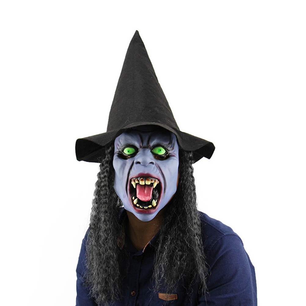 Full Head Fangs Witch Mask Latex Horrible Ghost Masks Masquerade Halloween Party Haunted House Cosplay Costume Props 8 L Nsv775 Keep You Fit All The Time Novelty & Gag Toys