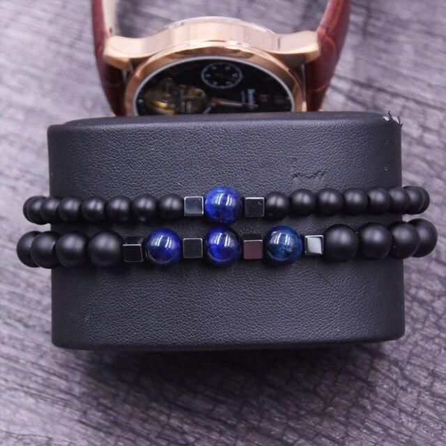 Bracelet à distance couple bleu