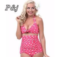 2015 Push Up High Waist Swimsuit 4XL XXXL XXL Big Size Women Bathing Suit Padded Bikini