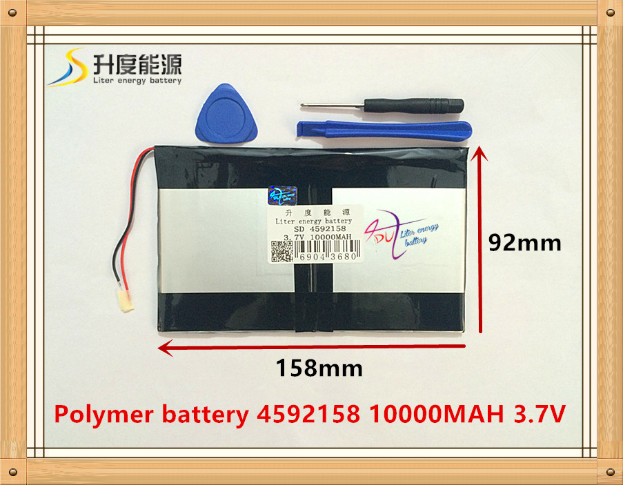 Tablet pc 3.7V,10000mAH (polymer lithium ion battery) Li-ion battery for tablet pc 9.7 inch 10.1 inch [4592158] Free Shipping 3 7v 5500mah li ion polymer lithiumion battery for 7 8 9 inch tablet pc icoo d70pro ii onda sanei 4 5 79 97mm free shipping