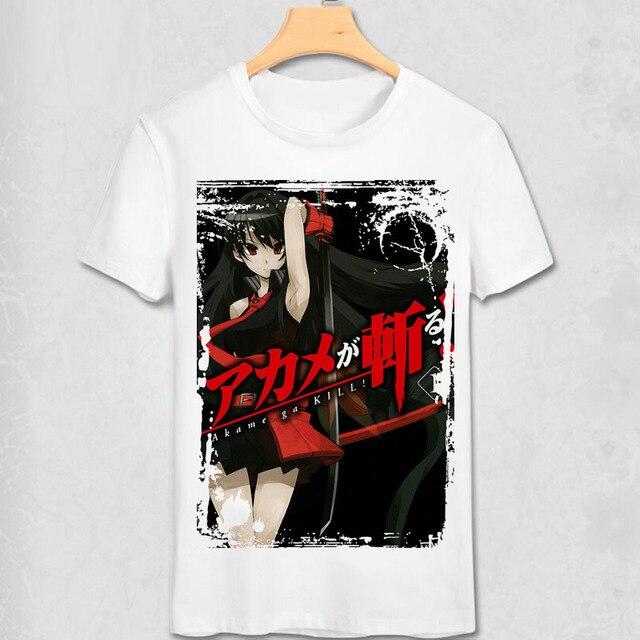 Akame ga KILL Night Raid T-shirt  Anime Men Women T Shirt  Short Sleeve Tatsumi Tshirt Tokyo Ninja Assassin Red Eye Killer Tees