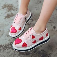 Новая детская обувь для девочек детская обувь для принцессы в Корейском стиле милая обувь в британском стиле кроссовки для отдыха для больших детей