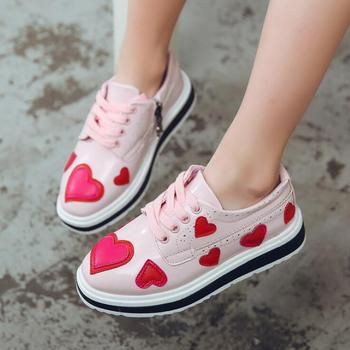 love Girls shoes 2020 spring/autumn new fashion student princess single shoes soft sole kids children leisure sneakers 26-37 abckids new spring autumn girls soft leather shoes children girls princess bowknot sneakers single shoes kids dance shoes rubber