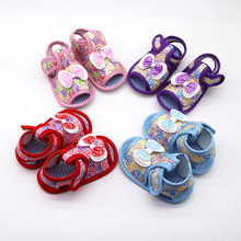 Exquisite Shoes 2019 Household daily necessities Newborn Baby Girls Printing Bow Prewalker Soft Sole lovely Single Shoes