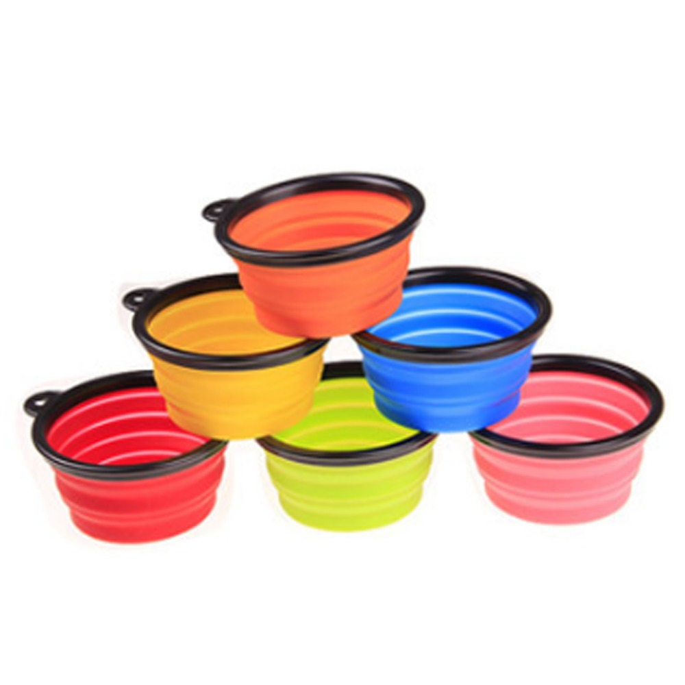 Pet Folding Portable Dog Cat  Bowls Pet Products Silicone Bowl  Wholesale For Food The Dog Drinking Water Bowl Pet Bowls #3