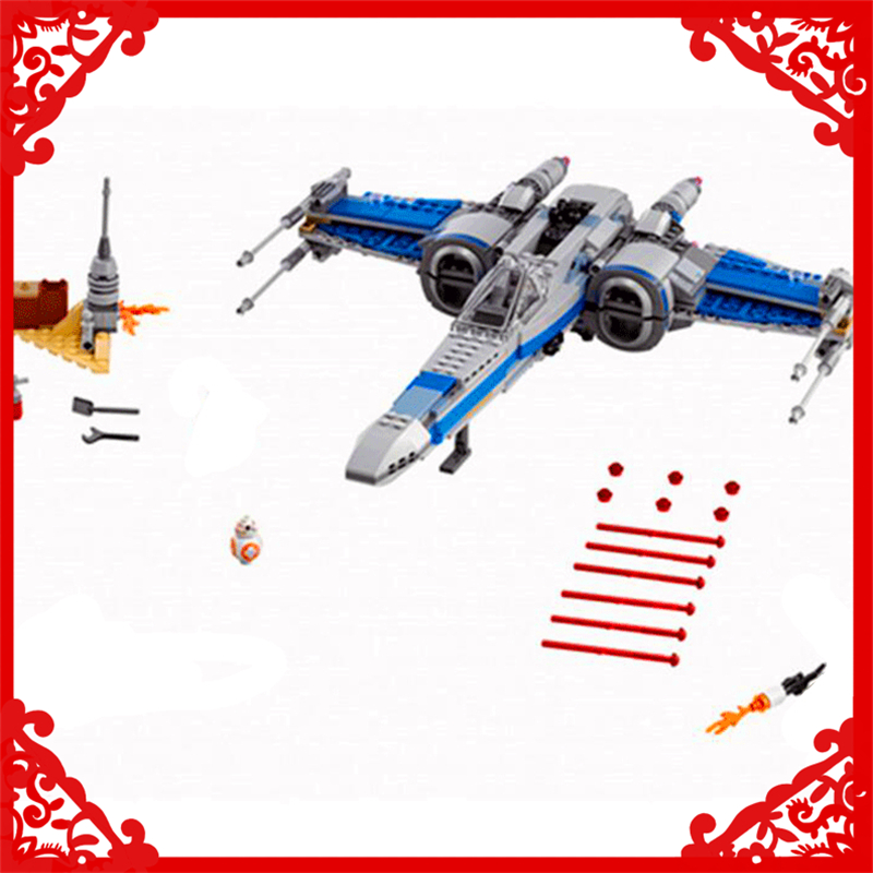 LEPIN 05029 Star Wars First Order Poe's X-wing Fighter Building Block 740Pcs Educational  Toys For Children Compatible Legoe lepin 05003 star wars first order transporter building block 845pcs diy educational toys for children compatible legoe