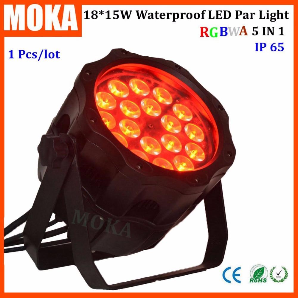 Заводская цена 18*15 Вт LED RGBWA 5 in1 этап дискотека номинальной света IP65 DMX Водонепроницаемый PAR огни для события show проектор