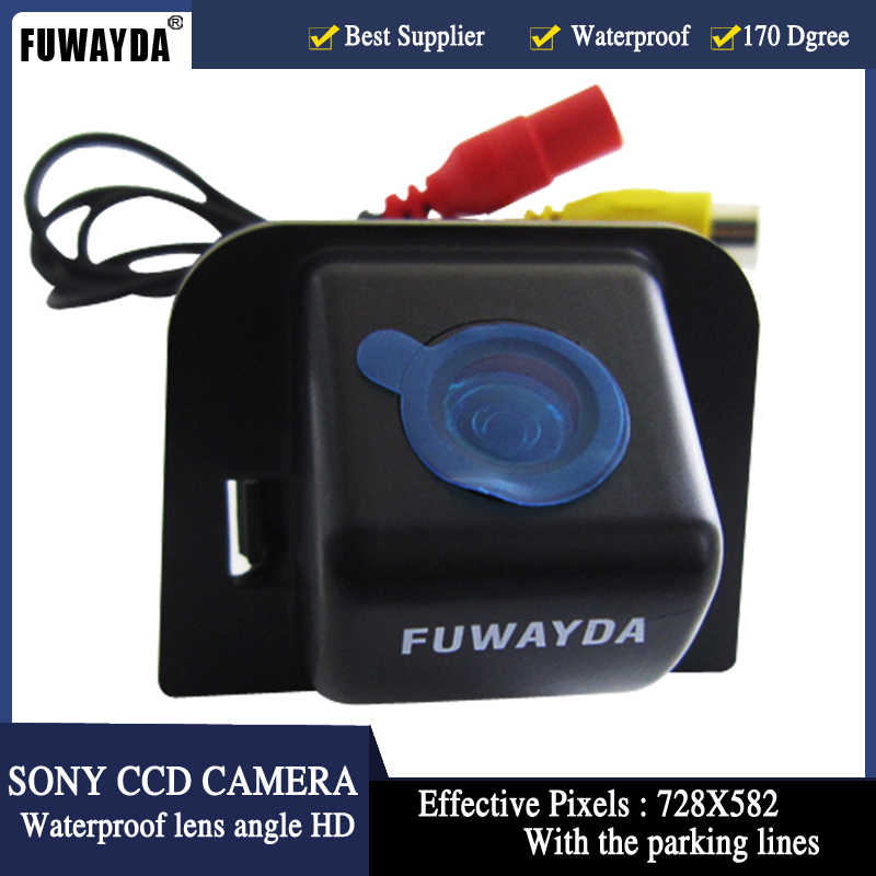 FUWAYDA SONY CCD Chip coche Auto vista trasera cámara de respaldo retrovisor imagen para TOYOTA Prius 2012 12 con líneas de aparcamiento HD