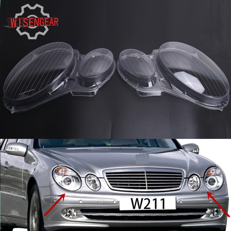 For benz w211 headlight cover front head lamp lens shell for Mercedes benz e350 car cover