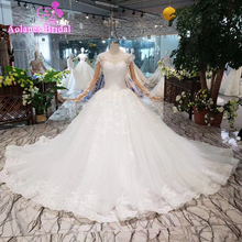 Vintage Lace Wedding Dresses Long Sleeve Tulle Ball Gown Elegant New Appliques Embroidery Vestido De Noiva