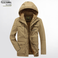 S D CAMEL VILLAGE 2017 New Winter Jacket Men S Thick Warm High Quality Hooded Brand