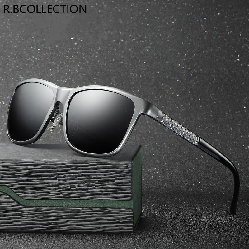 R.BCOLLECTION New Brand Men Sunglass Polarized Male Sunglasses Wrap Square Eyeglasses UV400 Outdoor Adult Sunglass 8637
