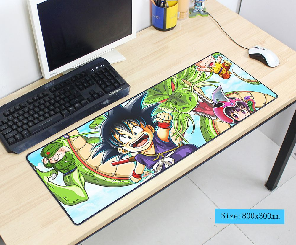 Dragon Ball Mousepad 800x300x3mm Pad To Mouse Notbook Computer Mouse Pad Cool Gaming Padmouse Gamer To Keyboard Mouse Mats