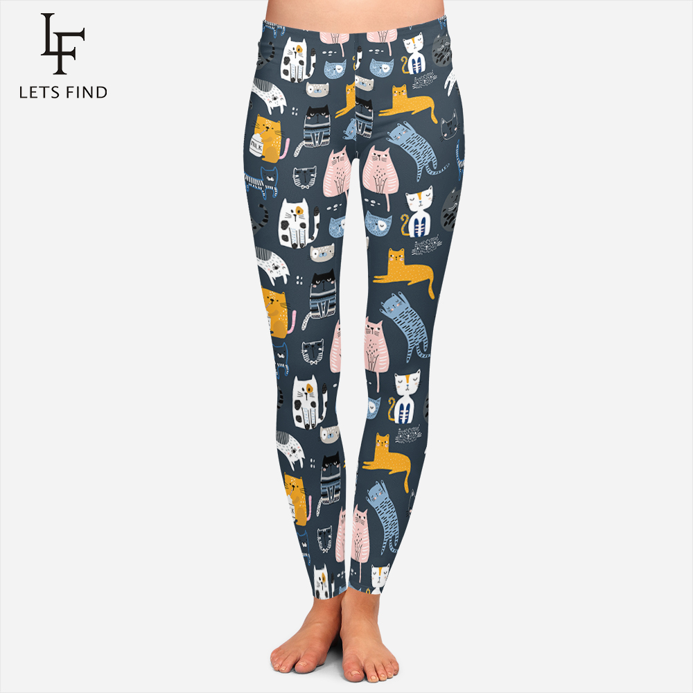 2019 New Design Cartoon Cat Leggings Womens Plus Size Fashions High Quality Fitness Leggins Comfoftable Soft Winter Leggings