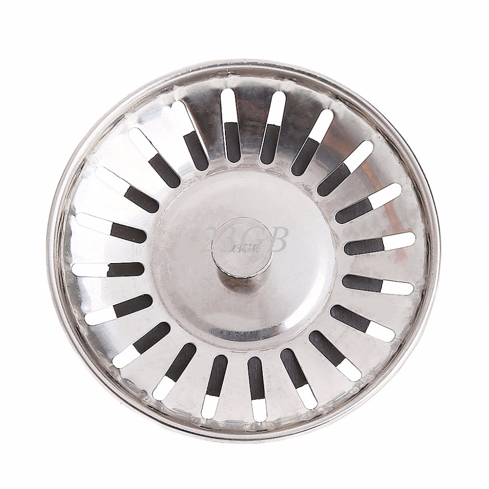 2017 NEW Kitchen Stainless Steel Basin Drain Dopant Sink Strainer Basket Waste Filter MAY03 20