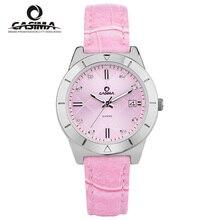 Люксовый бренд часы Мода женские часы повседневная кварцевые часы мода водонепроницаемые 50 м CASIMA #2620