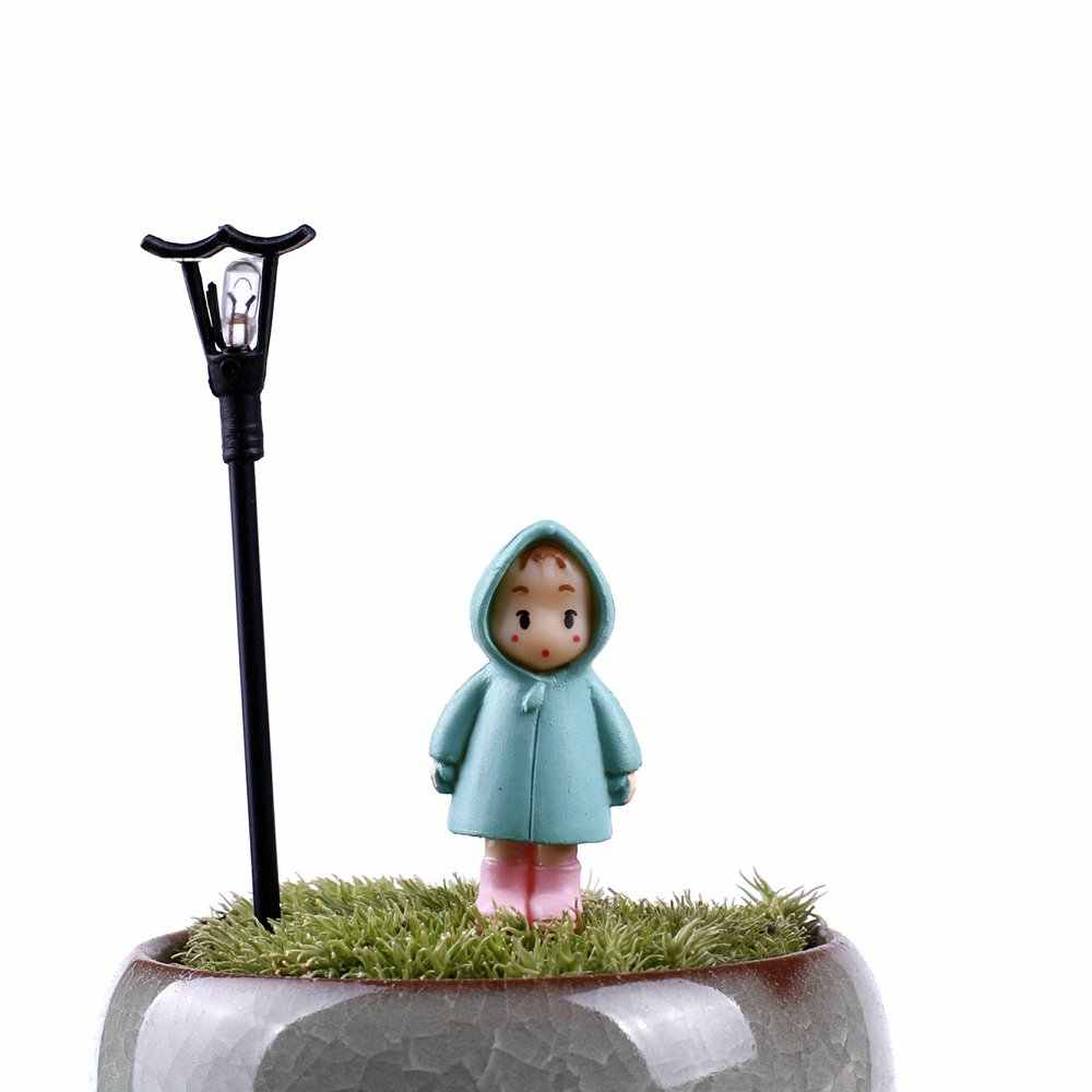 5PCS/Lot Mini Girl Fairy Garden Figurines Miniature Resin Crafts Ornament Ornament Gnomes Moss Terrariums Home Decorations