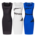 Women Square Neck Sleeveless Pencil Dress Sexy Club Sheath Sleeveless Female Summer Dresses