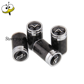 Car Accessories Carbon Fiber Wheels Tire Valve Stem Caps Rim Sticker For Chery Fulwin QQ Tiggo 3 5 T11 A1 A3 A5 Amulet M11 Fora image