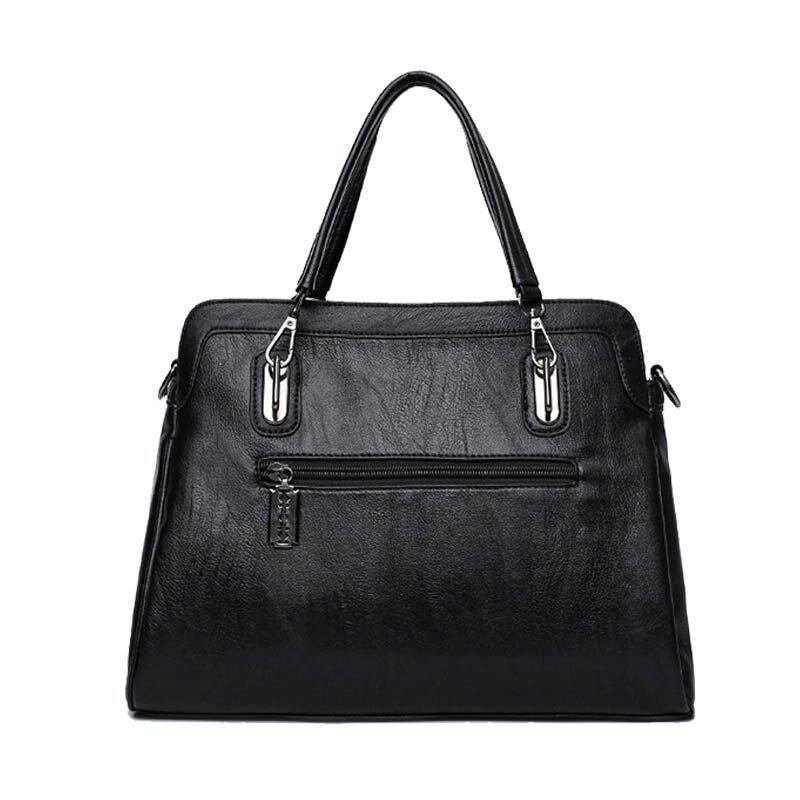 couro preto bolsas femininas bolsa Ocasião : Versátil