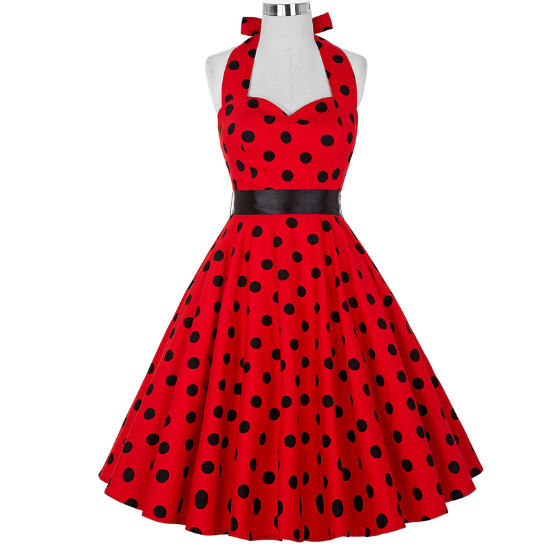 Women Dress Robe Pin Up Rockabilly Vestidos Summer Dresses Plus