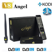 Freesat V8 Ангел Amlogic S805 Android set top TV BOX с DVB-S2 T2/C Рецепторов Спутниковый Ресивер HD ДЕКОДЕР 1 ГБ 8 ГБ ОТТ IPTV
