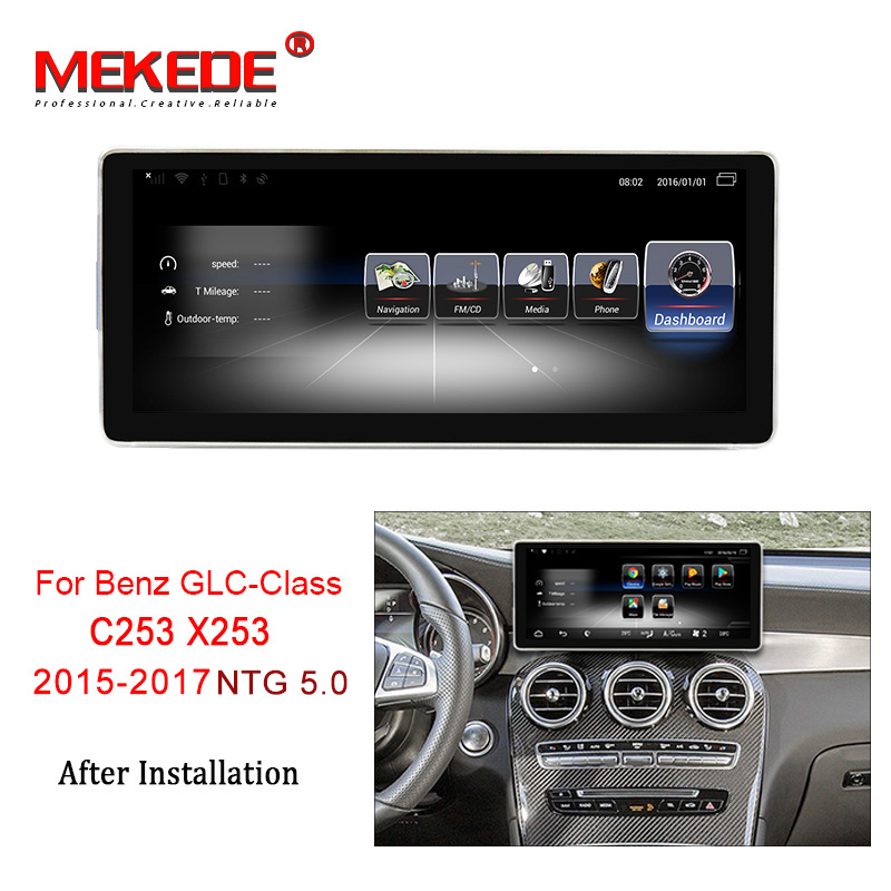 MEKEDE Car Multimedia Player 10.25'' Android 7.1 Car DVD radio audio player For Benz GLC Class C253 X253 2015-2017 3+32G NTG5.0
