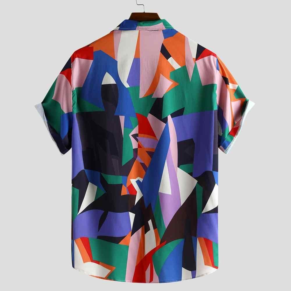 Мужские рубашки в цветах, модные повседневные рубашки с короткими рукавами и пуговицами, большие размеры, рубашки, Мужская гавайская рубашка, camisas de hombre