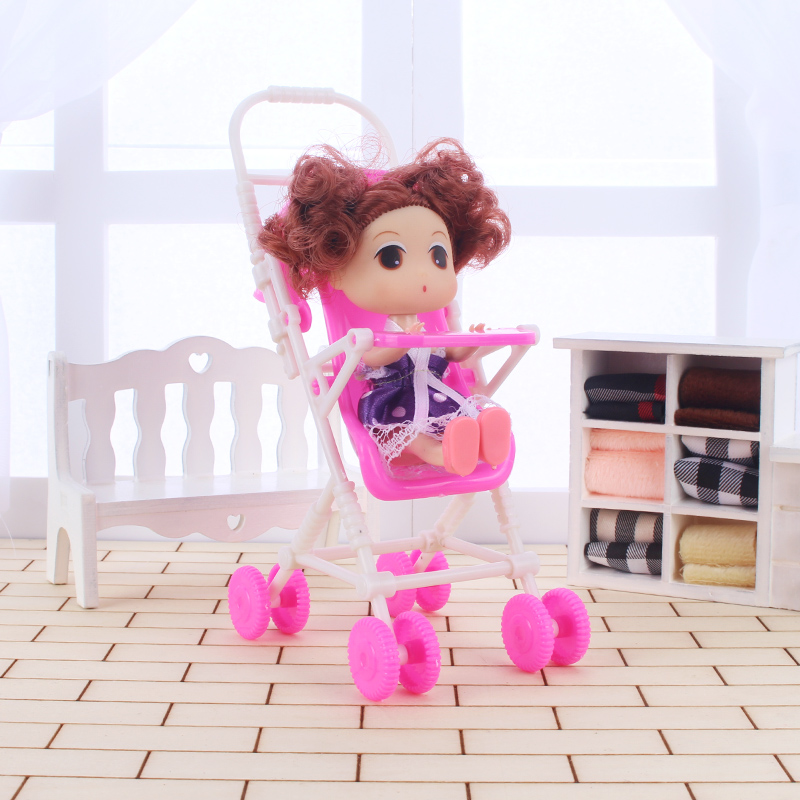 Pink Baby Stroller for Doll Toy Infant Kids Carriage