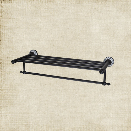 Bathroom Oil Rubbed Black Bronze B5140 towel holder rack Shelf with Robe clothes Hooks Robe Hook Towel Rack contemporary oil rubbed bronze shower bathroom towel bar rack with tooth brush holder