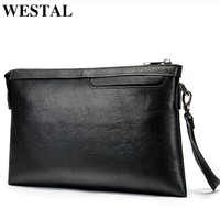 WESTAL Genuine Leather wallet male Men's Wallets for Credit Card Holder Clutch Male bags Coin Purse Men casual portmonee 8697