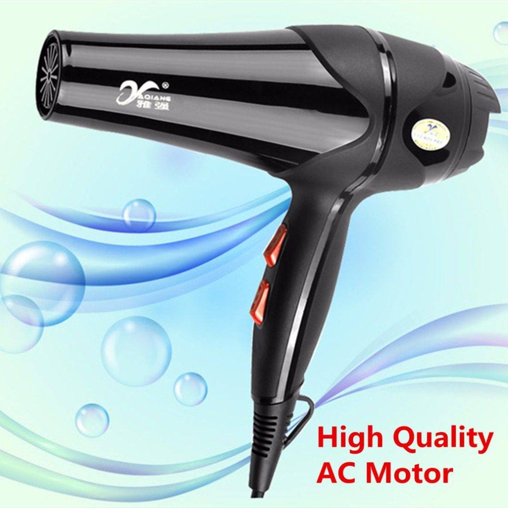 YAQIANG Blue Light Anion Hair Dryer 3600W High Power Hot Cold Wind Nozzles Styling Tools Salons Hairdrier Blower For Home Salon in Hair Dryers from Home Appliances