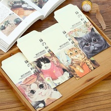 5pcs/lot Vintage Kawaii Cat Pet Envelope set/red envelope/students' funny mini gift bag/office school Stationery supplies(China)