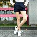 Veri Gude mulheres estilo reto algodão Shorts para o verão