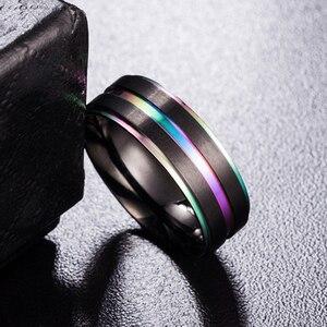 2018 Новое поступление черные мужские кольца на палец из нержавеющей стали Разноцветные/золотые мужские титановые кольца горячее кольцо