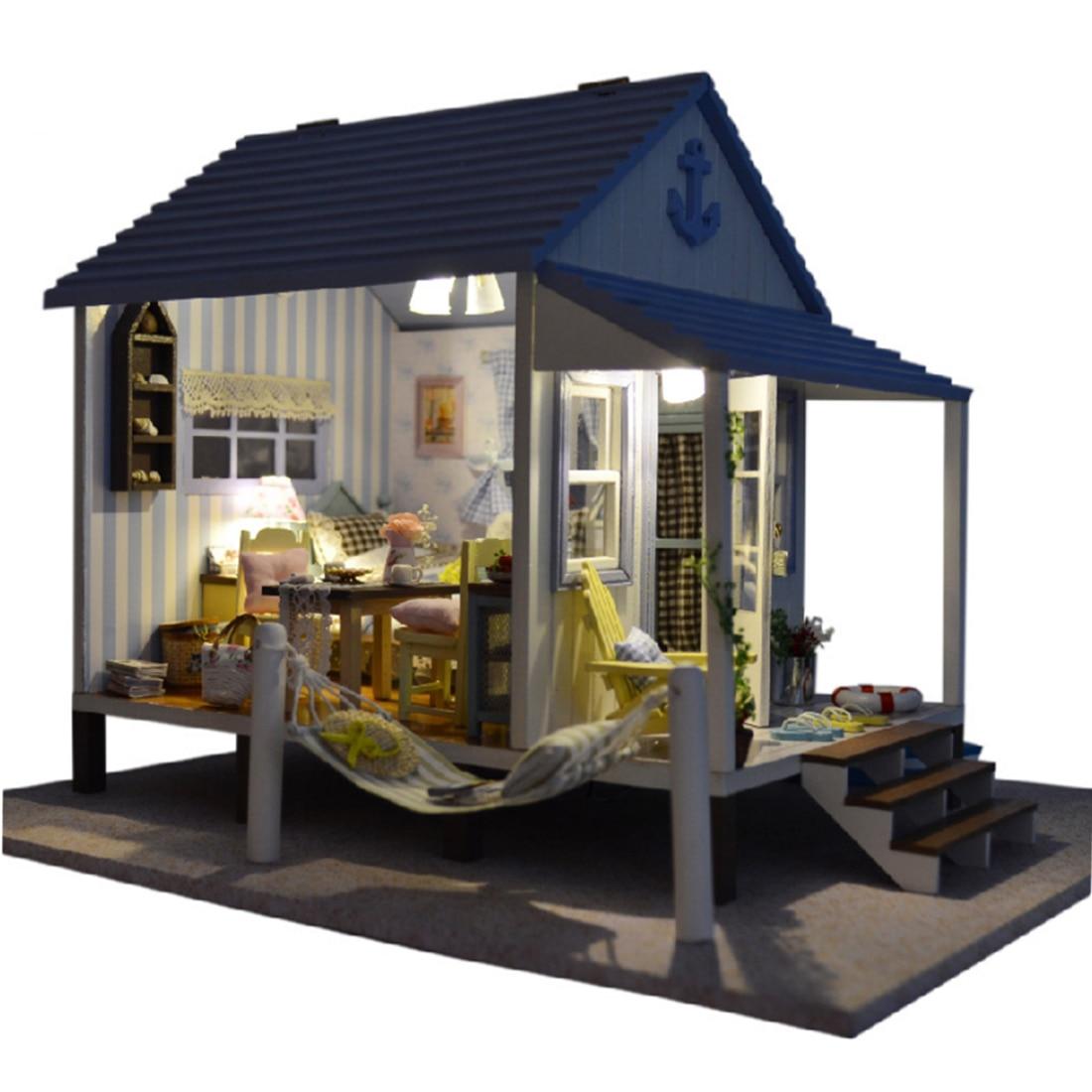 Intéressant maison Happy Coast 3D assemblage bricolage ménage créatif chambre cadeaux de noël jouets pour enfants