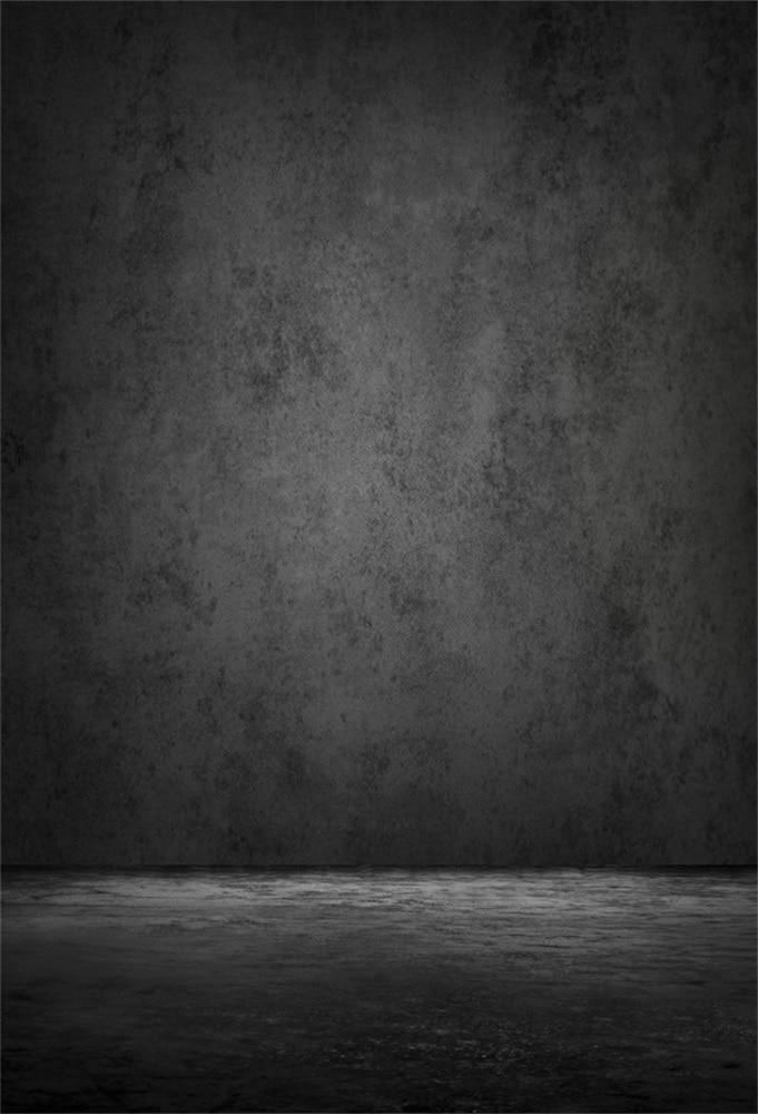 Laeacco Gradient Solid Dark Wall Floor Grunge Portrait