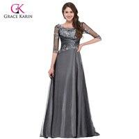 Grace Karin Elegant Women Half Sleeve Long Evening Dresses 2016 Formal Gowns Floor Length Mother Of