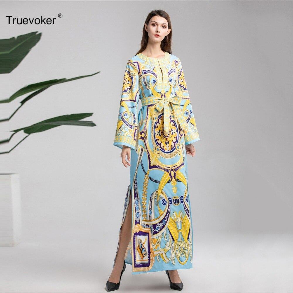 Baroque Printemps Femme Robe Longues Taille Maxi De À Ete Plus Truevoker La Attaché Manches Imprimé Resort Designer Femmes 3xl Longue 9H2IWDEY