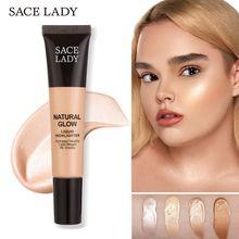 SACE LADY Liquid Highlighter Primer Long Lasting Ultra-Smooth Illuminator Maquiagem Hydrated Healthy Make Up Cream