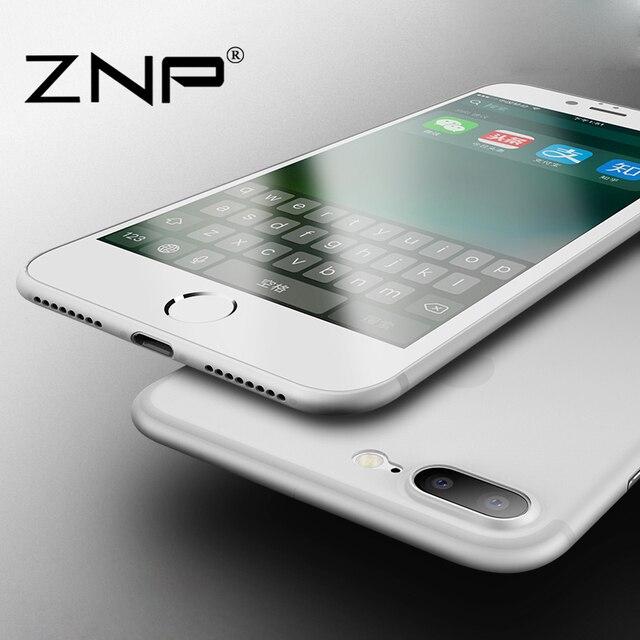 ZNP Матовый Прозрачный Ультра-тонкий 0.3 мм сзади полный чехол для iphone 8 8 плюс Чехол защитный чехол для apple iphone 8 Plus
